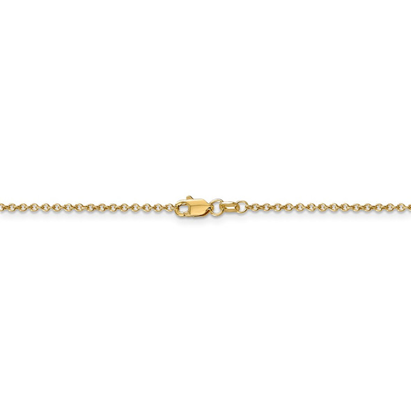 "16"" 14k Yellow Gold 1.4mm Round Open Wide Link Cable Chain Necklace"