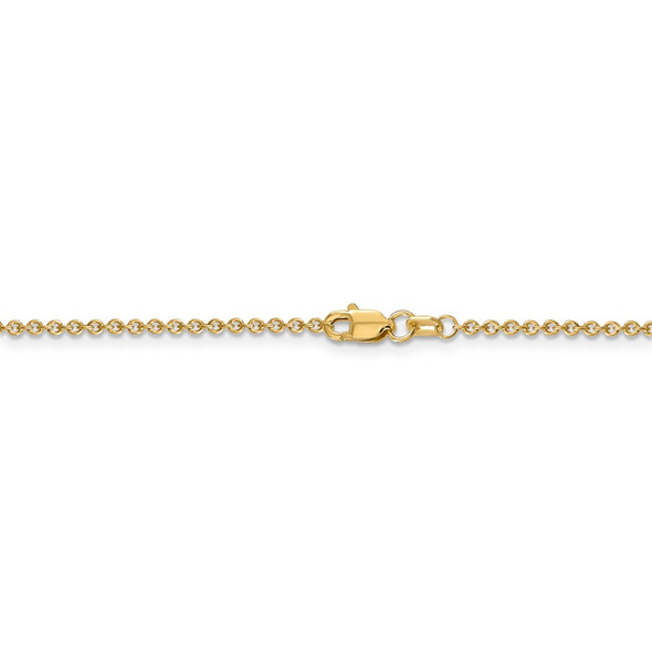 "16"" 14k Yellow Gold 1.6mm Round Open Link Cable Chain Necklace"
