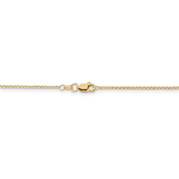"""16"""" 14k Yellow Gold 1.15mm Rolo Pendant Chain Necklace"""