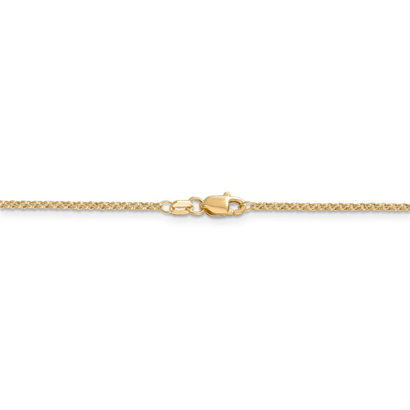 """16"""" 14k Yellow Gold 1.55mm Rolo Pendant Chain Necklace"""