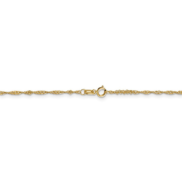 "14"" 14k Yellow Gold 1.4mm Singapore Chain Necklace"
