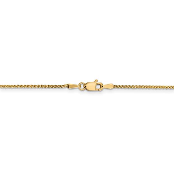 "14"" 14k Yellow Gold 1.2mm Diamond-cut Spiga Chain Necklace"