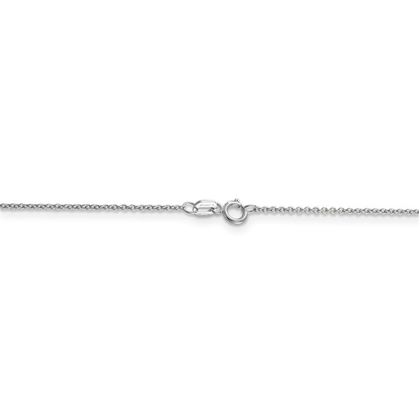 """18"""" 14k White Gold .9mm Cable with Spring Ring Clasp Chain Necklace"""