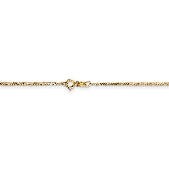 """16"""" 14k Yellow Gold 1.25mm Flat Figaro Pendant Chain Necklace"""