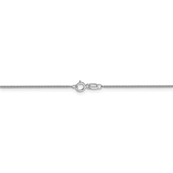 "16"" 14k White Gold .9mm Curb Pendant Chain Necklace"