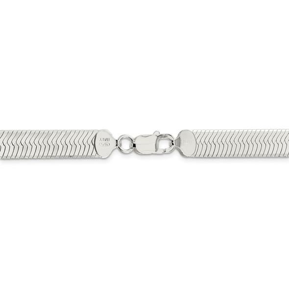 "18"" Sterling Silver 8.75mm Magic Herringbone Chain Necklace"
