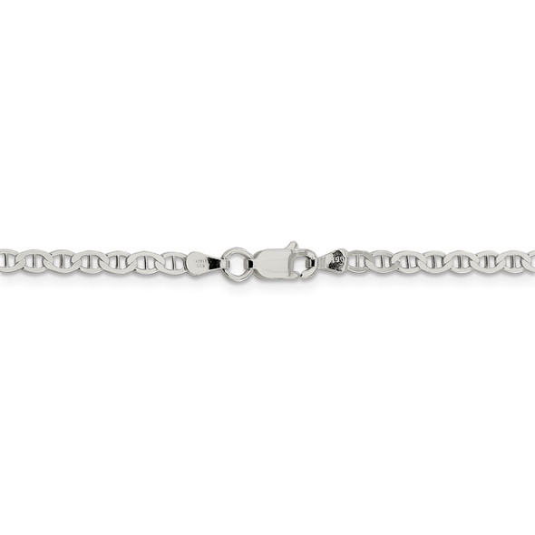 """16"""" Sterling Silver 3.1mm Flat Anchor Chain Necklace"""