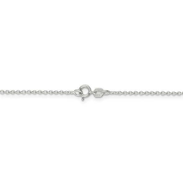 """18"""" Rhodium-plated Sterling Silver 1.1mm Forzantina Cable Chain Necklace w/2in ext."""