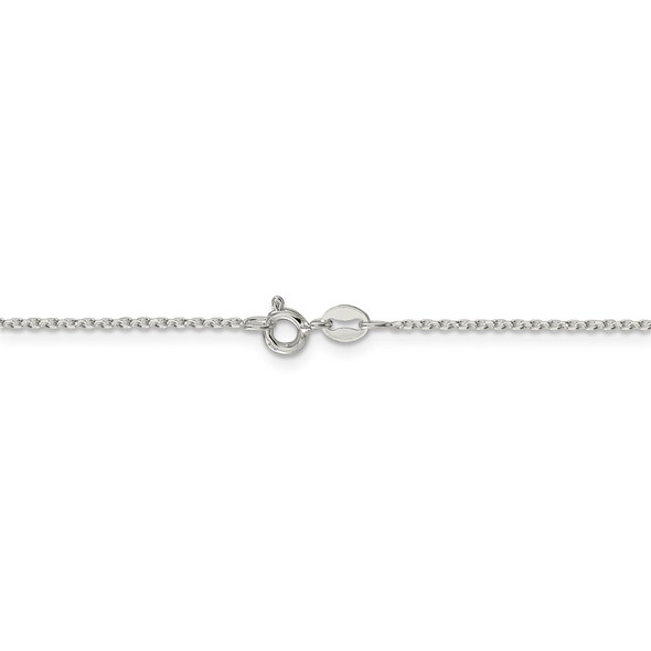 """16"""" Sterling Silver 1.25mm Diamond-cut Forzantina Cable Chain Necklace"""