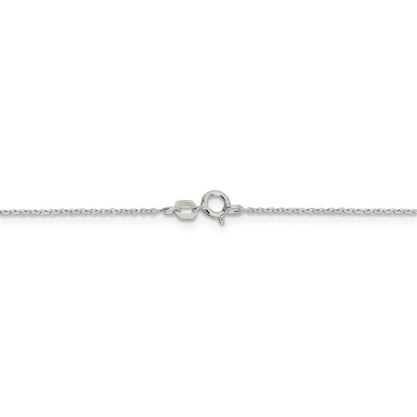 """18"""" Sterling Silver .95mm Diamond-cut Forzantina Cable Chain Necklace w/2in ext."""