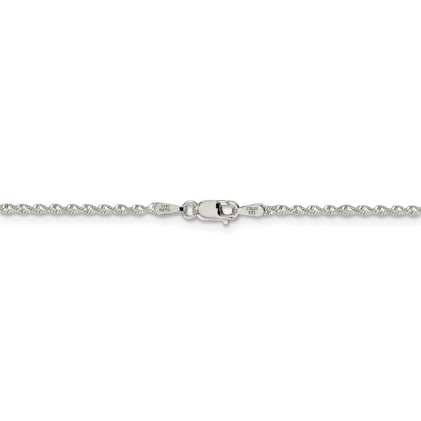 """16"""" Sterling Silver 1.65mm Twisted Herringbone Chain Necklace"""