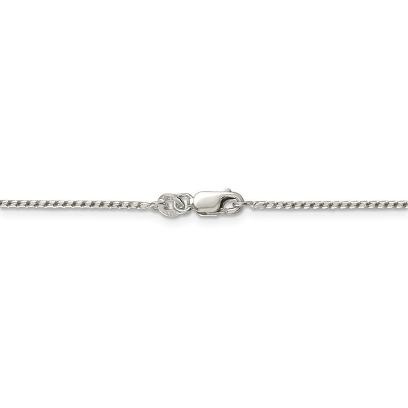 """16"""" Sterling Silver 1.25mm Round Franco Chain Necklace"""