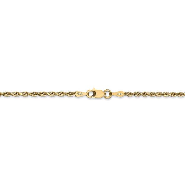 "14"" 14k Yellow Gold 2.00mm Diamond-cut Quadruple Rope Chain Necklace"