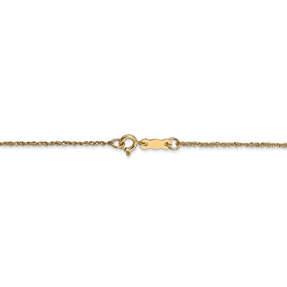 "14"" 14k Yellow Gold 1.1mm Ropa Chain Necklace"