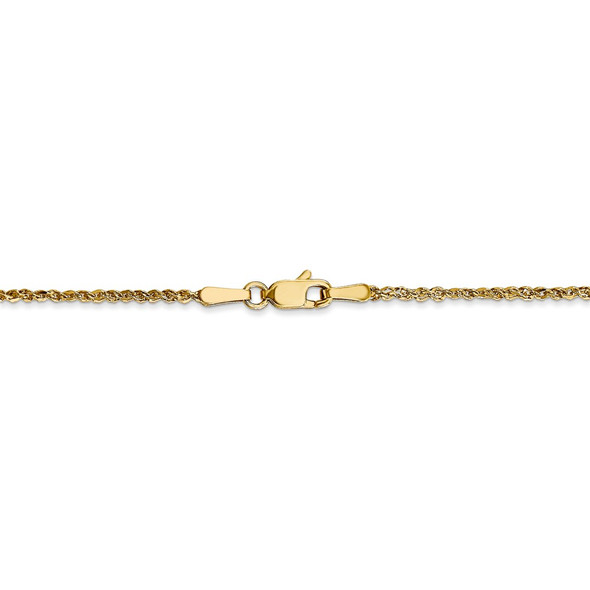 "14"" 14k Yellow Gold 1.7mm Ropa Chain Necklace"