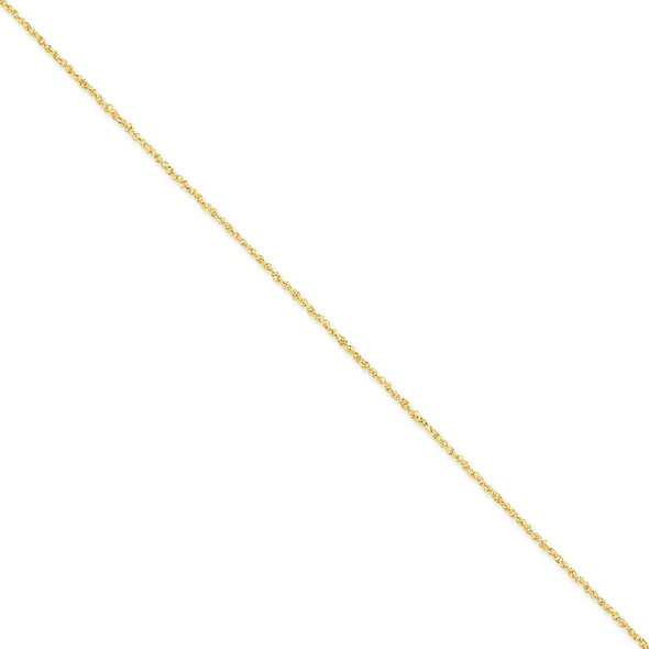 "10"" 14k Yellow Gold 1.7mm Ropa Chain Anklet"