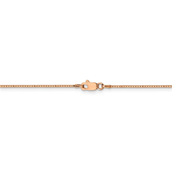 """16"""" 14k Rose Gold .9mm Box Chain Necklace"""