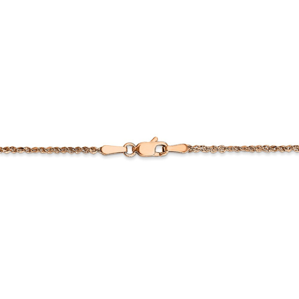 "18"" 14K Rose Gold 1.7mm Ropa Chain Necklace"
