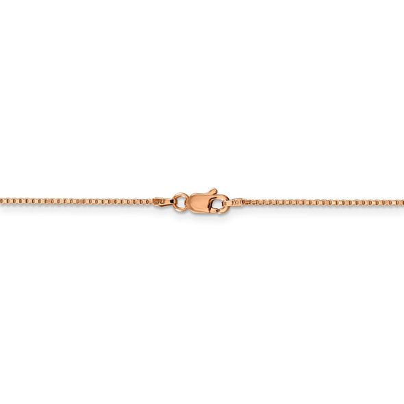 """16"""" 14k Rose Gold 1.0mm Box Chain Necklace"""