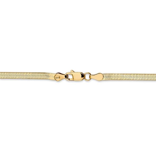 "18"" 14k Yellow Gold 3mm Silky Herringbone Chain Necklace"