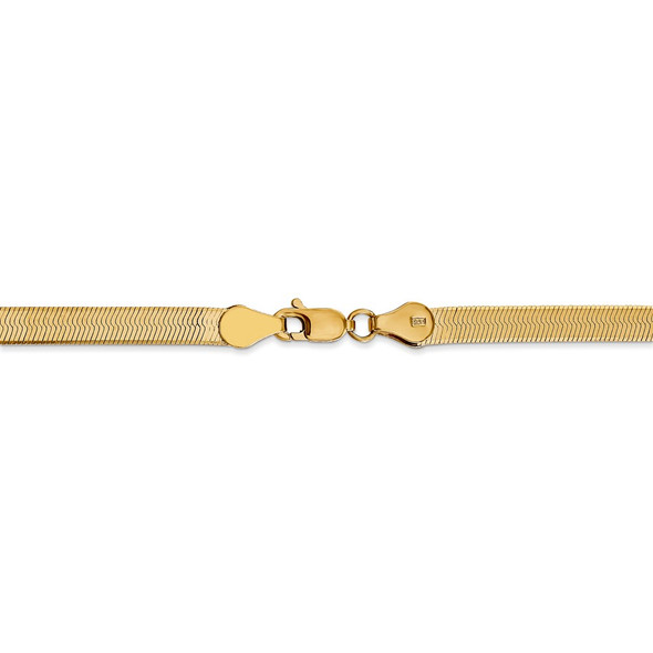 "18"" 14k Yellow Gold 4mm Silky Herringbone Chain Necklace"
