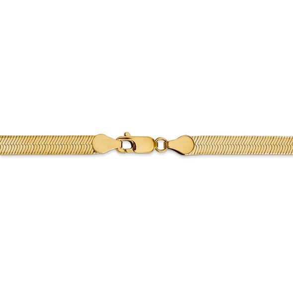 "18"" 14k Yellow Gold 5mm Silky Herringbone Chain Necklace"