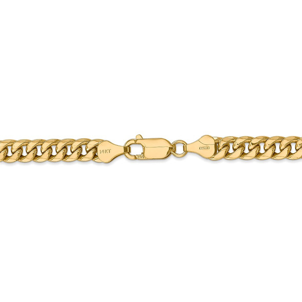 "18"" 14k Yellow Gold 6mm Semi-Solid Miami Cuban Chain Necklace"