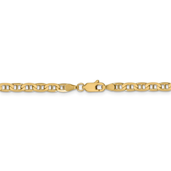 """16"""" 14k Yellow Gold 3.75mm Concave Anchor Chain Necklace"""