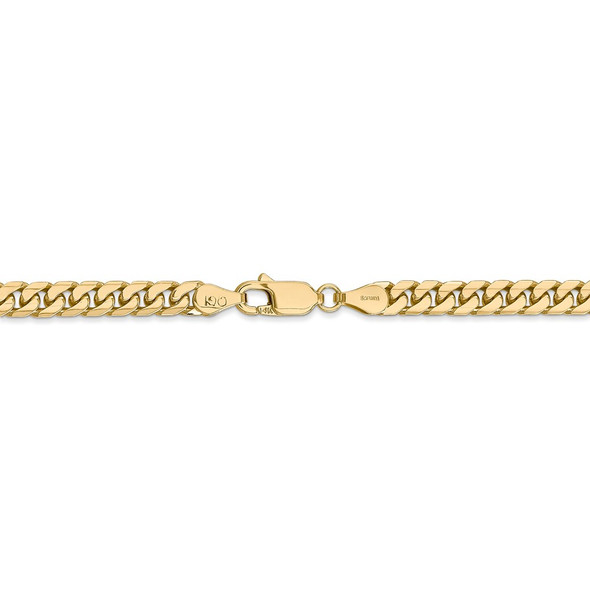 """18"""" 14k Yellow Gold 4.3mm Solid Miami Cuban Chain Necklace"""