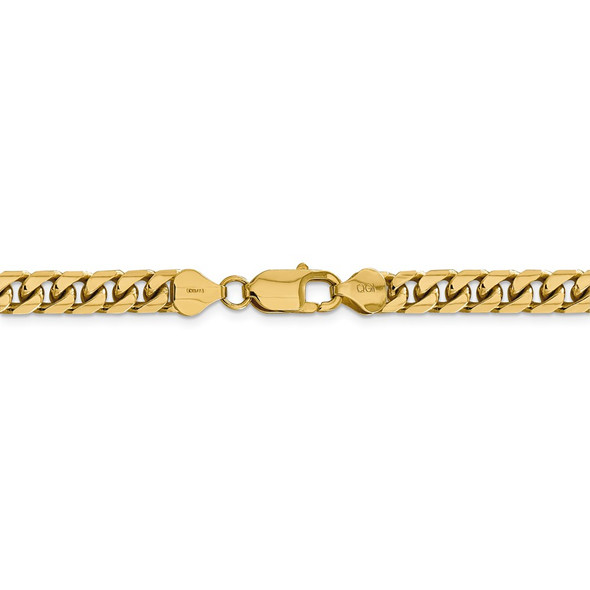 """22"""" 14k Yellow Gold 6.25mm Solid Miami Cuban Chain Necklace"""