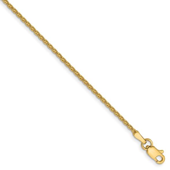 "6"" 14k Yellow Gold 1.5mm Parisian Wheat Chain Bracelet"