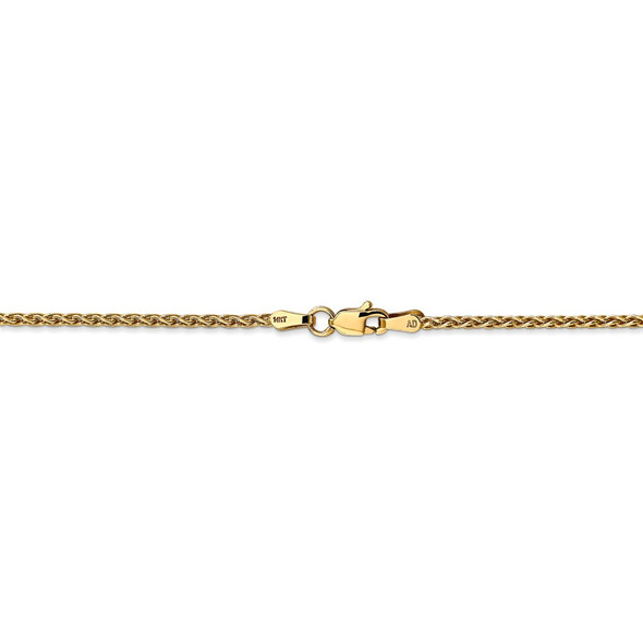 """14"""" 14k Yellow Gold 1.75mm Parisian Wheat Chain Necklace"""