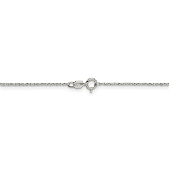 """14"""" Sterling Silver 1.1mm Rolo Chain Necklace"""