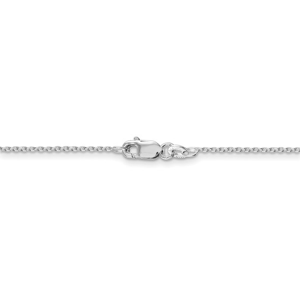 """16"""" Rhodium-plated Sterling Silver 1.25mm Diamond-cut Forzantina Cable Chain Necklace"""