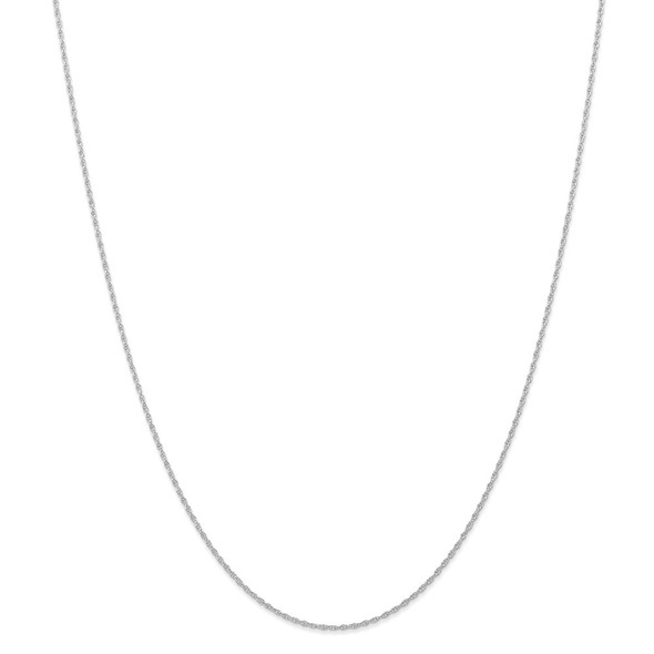 "14"" 14k White Gold .95 mm Carded Cable Rope Chain Necklace"