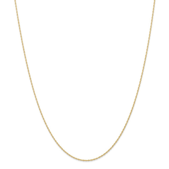 """14"""" 14k Yellow Gold .95 mm Carded Cable Rope Chain Necklace"""