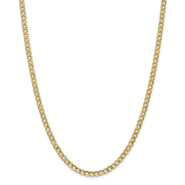 """10"""" 14k Yellow Gold 4.3mm Semi-Solid Curb Chain Anklet"""
