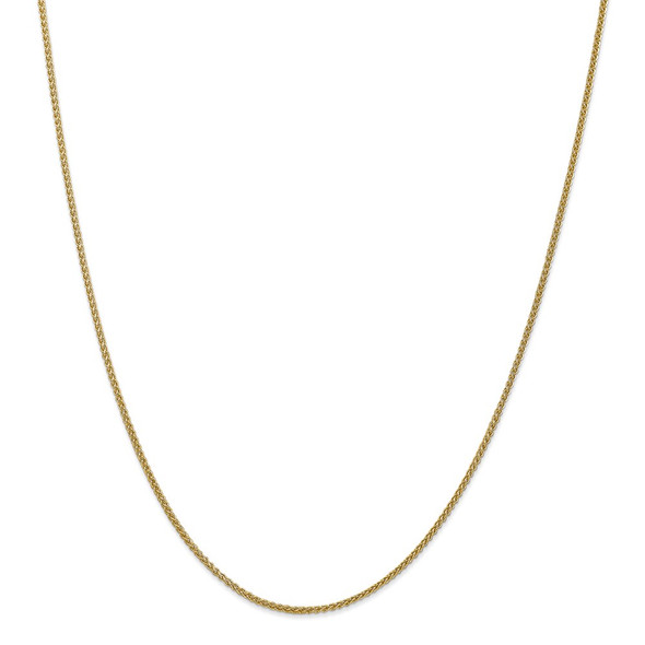 """10"""" 14k Yellow Gold 1.55mm Semi-Solid Wheat Chain Anklet"""