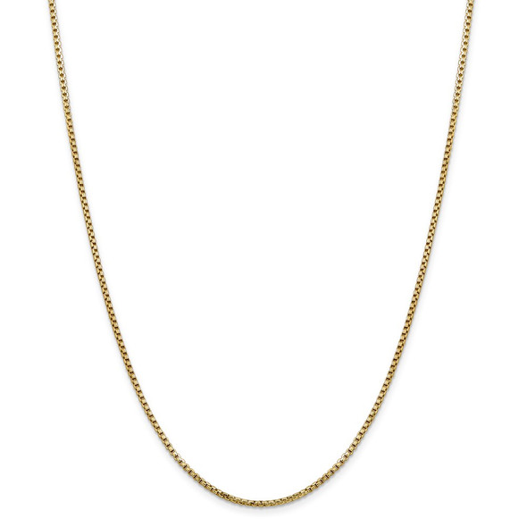 "7"" 14k Yellow Gold 1.75mm Semi-Solid Round Box Chain Bracelet"