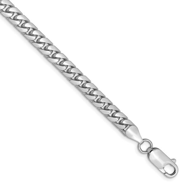 "7"" 14k White Gold 5mm Solid Miami Cuban Chain Bracelet"