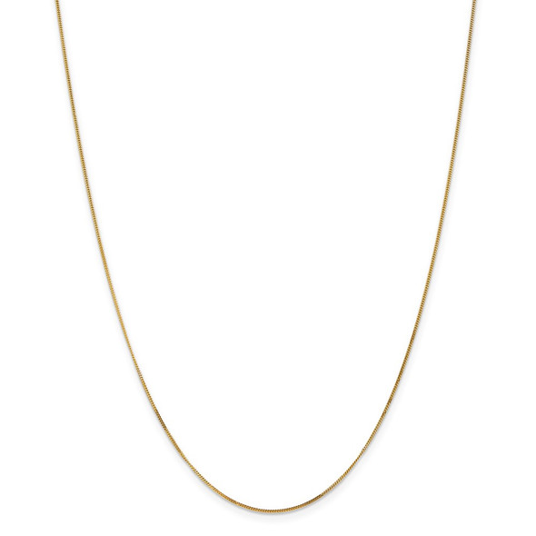 "13"" 14k Yellow Gold .9mm Curb Pendant Chain Necklace"