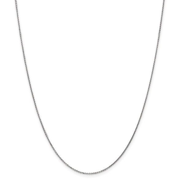 """10"""" 14k White Gold .95mm Diamond-cut Cable Chain Anklet"""
