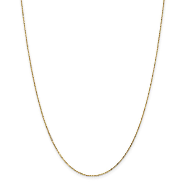 """10"""" 14k Yellow Gold .95mm Diamond-cut Cable Chain Anklet"""