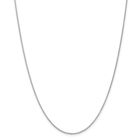 """14"""" 14k White Gold 1.2mm Cable Chain Necklace"""
