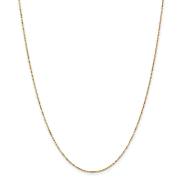 """14"""" 14k Yellow Gold 1.2mm Cable Chain Necklace"""