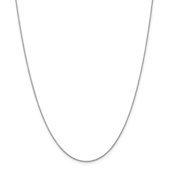 """10"""" 14k White Gold .9mm Cable with Spring Ring Clasp Chain Anklet"""