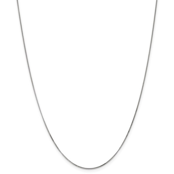 "13"" 14k White Gold .9mm Curb Pendant Chain Necklace"