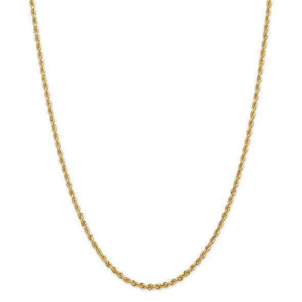 "28"" 14k Yellow Gold 2.75mm Diamond-cut Quadruple Rope Chain Necklace"