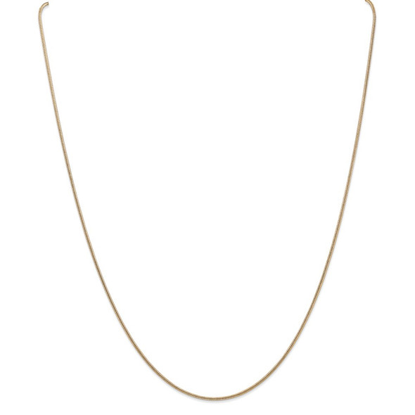 """26"""" 14k Yellow Gold 1.4mm Round Snake Chain Necklace"""