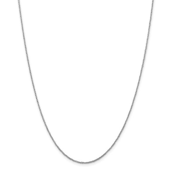 "22"" 14k White Gold 1.1mm Ropa Chain Necklace"